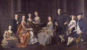 The Dixie family painted by Henry Pickering 1767