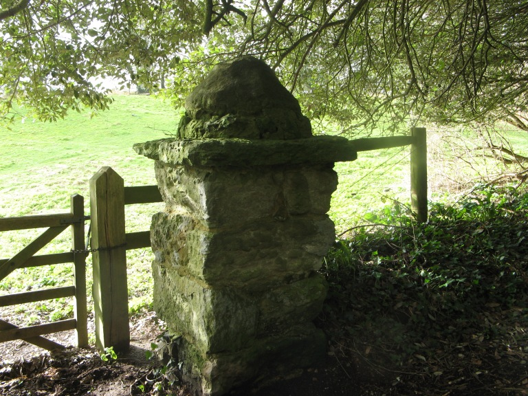 Old gatepost Sandrock Road Niton