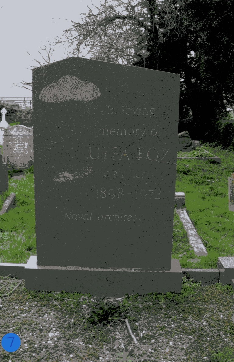 Grave of Uffa Fox at St Mildred's Church, Whippingham